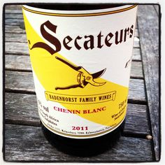 Great wine ~ Secateurs Chenin Blanc Badenhorst Family Wines 2011 4/5, #wine, #southafrica #drinks