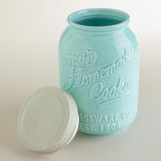 http://www.worldmarket.com/product/mason jar ceramic cookie jar.do