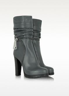Loriblu Gray Nappa Leather Boot