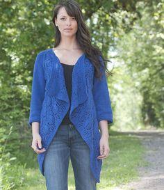Ravelry: Summer Lace Wrap Cardigan pattern by Vera Sanon Knit Vest Pattern, Sweater Knitting Patterns, Free Knitting, Knit Sweaters, Crochet Patterns, Crochet Woman, Knit Crochet, Ravelry, Wrap Cardigan