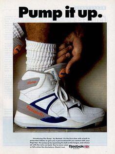 LA Reebok Pump ! 1988, présentée sur Canal + par Jérôme Bonaldi. prix annoncé à l'epoque : 1400 francs si ma mémoire est bonne. Un bras quoi ! Reebok vient sans le savoir de mettre un pied dans la culture sneakers : 30 ans après, la paire en photo précisément, en dead stock se négocie entre 350 & 500 euros, soit le double de l'epoque.