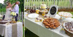 sweets bar set up :: rustic chic wedding