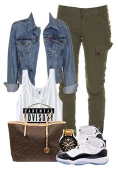 """""""Watch out."""" by icebeezy ❤ liked on Polyvore featuring Firetrap, Levi's, MICHAEL Michael Kors, Concord and Versace"""