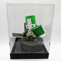 Green Knight Castle Crashers Behemoth Figure 2007 Toy Complete with Display Case #Unbranded Castle Crashers, Green Knight, Retro Video Games, Display Case, Trinidad And Tobago, Toys, Glass Display Case, Activity Toys, Display Window
