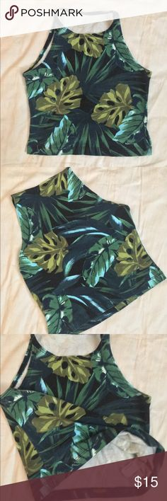 AA Crop Tank Jungle Design It's jungle print not weed print. Loved loved this too but I grew out of it. American Apparel Tops Crop Tops