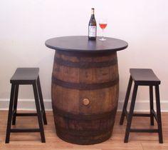 Vintage Whiskey Barrel Pub-Bistro-Bar-Home by AuntMollysBarrels