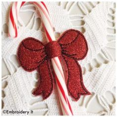 Machine Embroidery Candy Cane Sliders Made In the Hoop