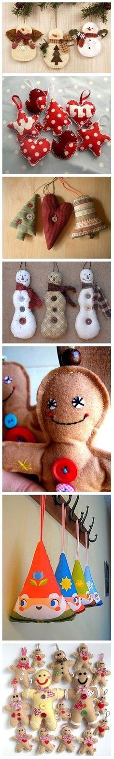Christmas felt ornaments - Popular DIY & Crafts Pins on Pinterest