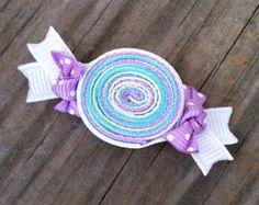 Lollipop Hair Clip Pink Lollipop Ribbon Hair Clip by leilei1202