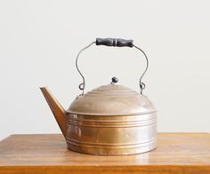 A personal favorite from my Etsy shop https://www.etsy.com/listing/216102153/vintage-1-gallon-copper-teapot-tea