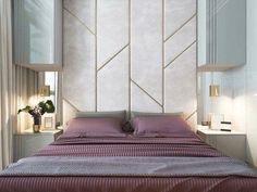New Wall Paneling Ideas Bedroom Interior Design 59 Ideas Girl Bedroom Designs, Modern Bedroom Design, Master Bedroom Design, Home Bedroom, Bedroom Wall, Home Interior Design, Bedroom Decor, Interior Ideas, Bedroom Headboards