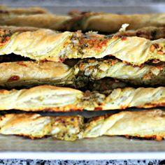 Cheesy Pesto Pastry Twists
