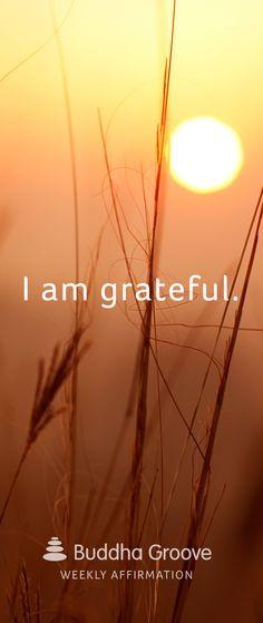 Weekly Affirmation: Grateful