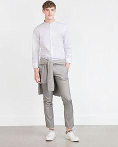 ZARA - HOMEM - CAMISA COM ESTAMPADO BOLINHAS Polka Dot Shirt, Polka Dots, Men Store, Zara Man, Latest Outfits, Normcore, United Kingdom, Shirts, Clothes