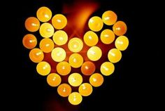 heart of candles...a warm heart