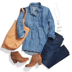 """""""Our Stylists recommend: A daily dose of denim to cure those nothing-to-wear days. #StylistTip"""""""