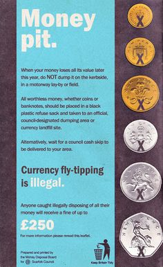 Scarfolk Council: 2016 - The Economy & Currency Fly-Tipping Public Information, Ladybird Books, Night Vale, Twisted Humor, Life Humor, Pulp Fiction, Satire, Funny Pictures, Funny Quotes