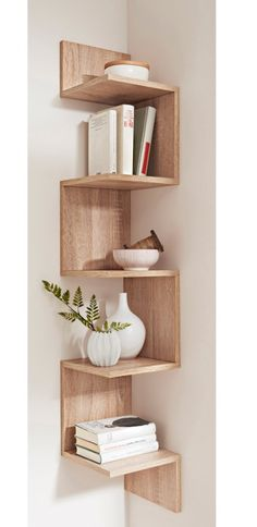 Creative And Inexpensive Useful Ideas: Floating Shelves Fireplace Mantels floating shelf for tv design.Floating Shelves With Pictures Master Bedrooms floating shelf storage offices.Floating Shelves Over Toilet Subway Tiles. Cheap Home Decor, Diy Home Decor, Home Decor Trends, Diy Corner Shelf, Corner Shelves Bedroom, Corner Storage, Corner Bookshelves, Floating Corner Shelves, Diy Storage