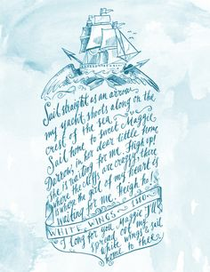 Old Sailor Song No.3 Art Print | Custom Monograms Crests | Heraldry | Designs for Weddings | Dinnerware | China