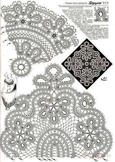 Crochet: Bruges lace Doilies