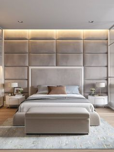 Modern Bedroom Interior Design Inspirational Contemporary Elegant & Cosy Home Design Project In Ukraine Master Bedroom Design, Home Bedroom, Master Bedrooms, Bedroom Ideas, Bedroom Designs, Bedroom Wall, Wall Headboard, Bed Designs, Bed Room