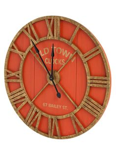 Bolival II Wall Clock from An Inviting Space: Decorative Accents on Gilt