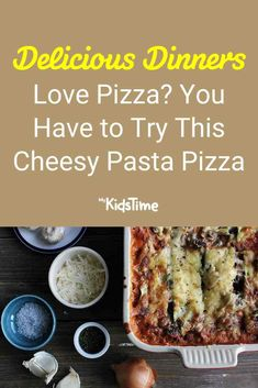 Love Pizza? You Have to Try This Pasta Pizza Pasta Recipes For Kids, Pizza Recipes, Pizza You, Love Pizza, Family Meals, Kids Meals, Small Pasta, Pizza Ingredients, Fresh Pasta