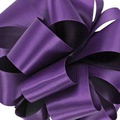7/8 Single Faced Regency Purple Satin Ribbon 5 by BridalBouquets