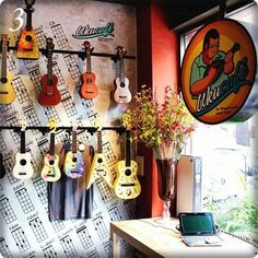 "More at ""The UkuCafe"" you get ukulele, coffe, free wifi, food & more. Great! - I wants one!"