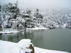 Λίμνη Μπελέτσι Winter White, Athens, Snow, River, Outdoor, Outdoors, Outdoor Games, The Great Outdoors, Athens Greece