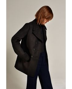 STUDIO DOUBLE BREASTED THREE QUARTER LENGTH COAT