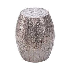 """Decorative Moroccan Stool Or Side Table - Looking for a glamorous room accent with serious """"wow"""" factor? The marvelous Decorative Moroccan Stool Or Side Table features an intricate and dazzling pattern and is a luxurious side table, display st Moroccan Side Table, Moroccan Garden, Moroccan Decor, Moroccan Style, Moroccan Furniture, Moroccan Bedroom, Moroccan Lounge, Moroccan Lighting, Moroccan Interiors"""