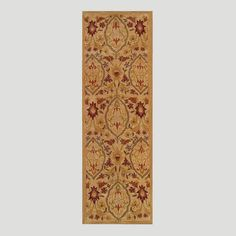 Ideal for a high traffic entryway or hallway, our 2.5'x 8' Viva Tufted Runner is not only durable, but is also a beautiful piece of décor. With its symmetrical floral motif and splashes of luscious red against a calm, neutral background, it lends the perfect amount of understated luxury.