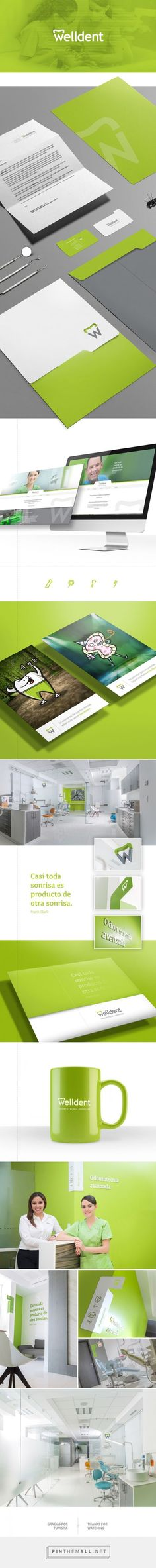 Welldent, dentist brand identity by Diseño Dos Asociados #branding #stationary #inspiration