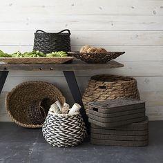 Kabud Large Lidded Basket  | Crate and Barrel