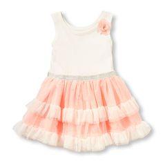 Toddler Girls Sleeveless 3D Flower Ruffle Birthday Dress