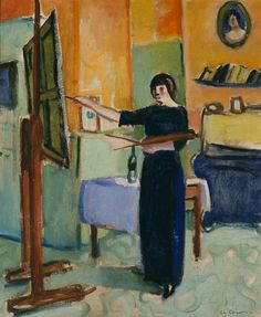 Charles-Camoin-Artist-in-Her-Studio-1905