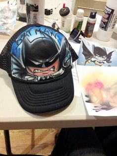 ddcd5645fc2 Dark knight lego batman airbrush snapback hat