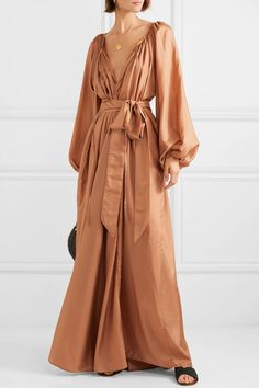 GABRIELLE S AMAZING FANTASY CLOSET   Kalita s Maxi Dress is Hand-Dyed to a  Soft Terracotta 42f11692a4
