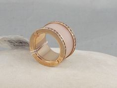 Michael Kors Rose Goldtone ROSE GOLD & BLUSH Barrel Ring Sz 6 MKJ4332 $95 #MichaelKors #Barrell