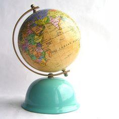 Vintage Miniature World Globe Bank by SweetLoveVintage on Etsy