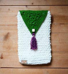 Housse tablette étui pochette livre e-book au crochet : Housses ordinateurs et tablettes par wildfolkatelier
