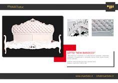 Original restored white baroque bed. By atelier myArtistic www.myartistic.it