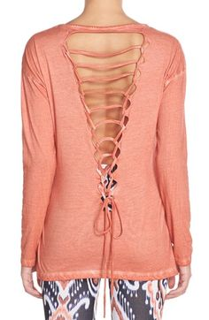 O'Neill 'Avid' Tie Back Cotton Tee available at #Nordstrom