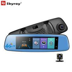 "7.84"" Touch Screen ADAS Rear View Mirror 4G WiFi Bluetooth FM Car DVR Android Dual Lens Full HD 1080P Multifunction Dash Camera #Affiliate"