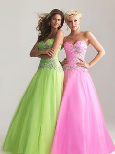 A-line Sweetheart Tulle Long Prom Dress /Evening Dress Nms 6672