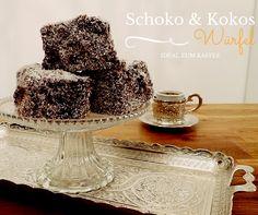 Schnelles und einfaches Rezept für Schoko & Kokos Würfel. Ein Kuchen in Schokolaude getaucht und mit Kokosraspeln überzogen.