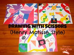Kids Get Arty - Drawing with Scissors like Henri Matisse from Mom to 2 Posh Lil Divas