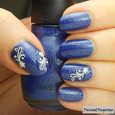 #5minutenailart: Stars and Neptune | Painted Fingertips