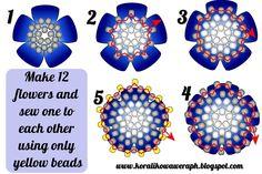Perlen tudzież: bullet kwiatula mit Rosenblättern Perlen - wie es geht